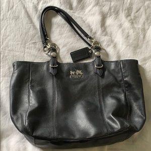 EUC black Leather Coach bag